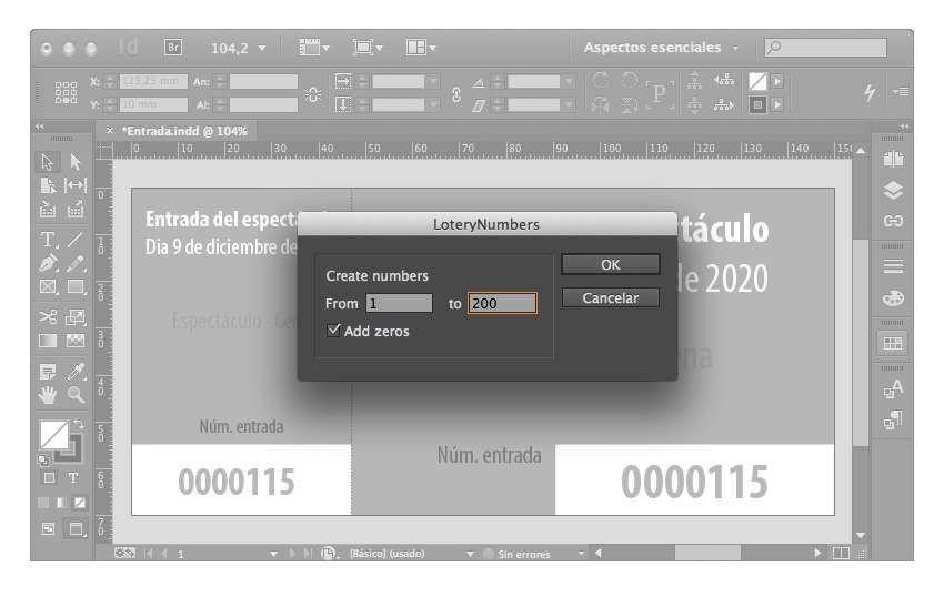 números secuenciales indesign 04