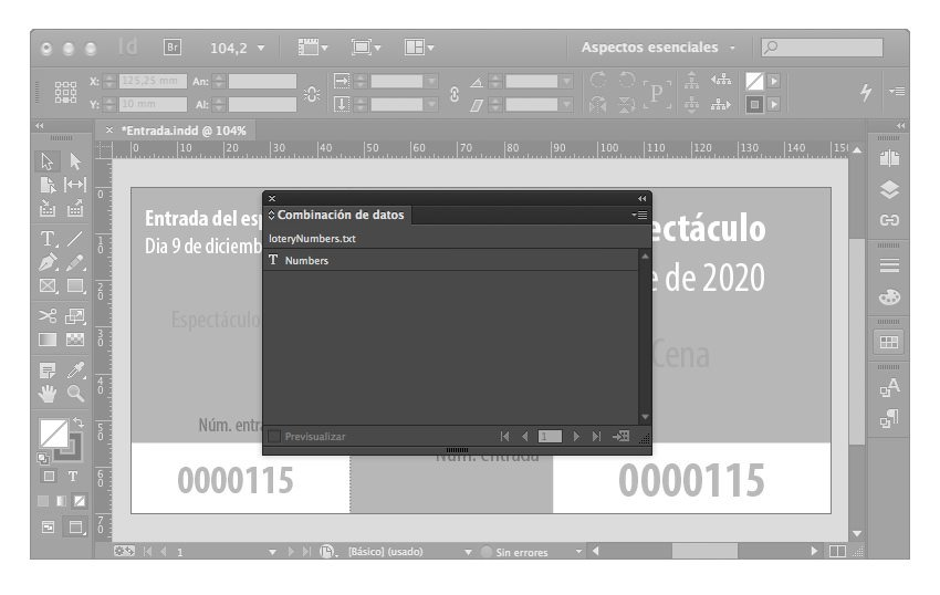 números secuenciales indesign 05
