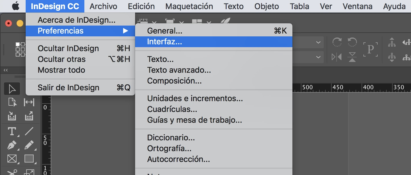 Ocultar y mostrar valores de transformación en Adobe Indesign